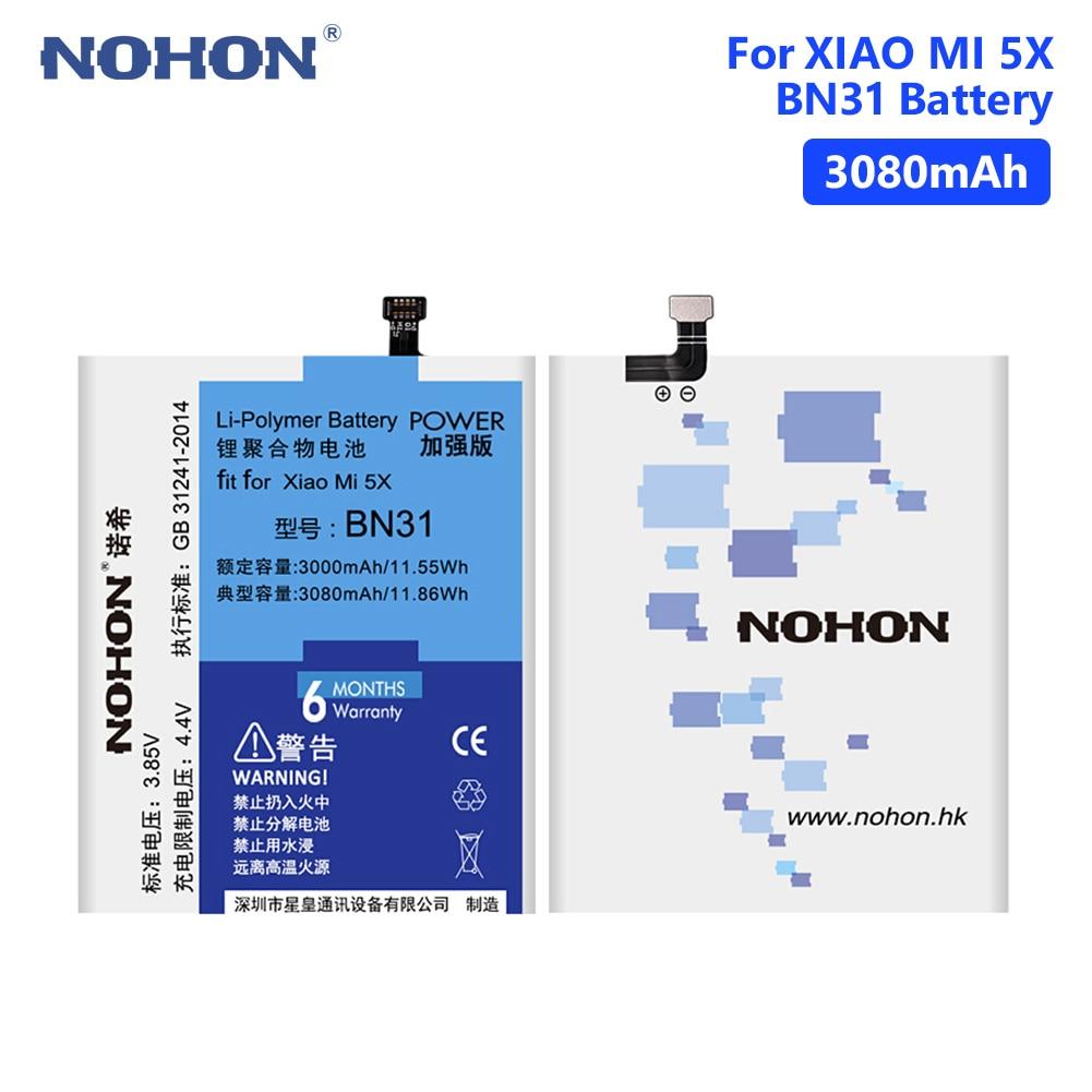 NOHON Phone-Battery Tools Note-5a Xiaomi Pro/redmi 3080mah for 5X Mi5x/mi A1 Y1-Lite