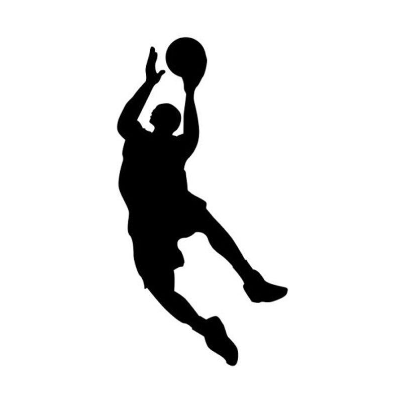 Оптовая 5шт,10шт,14.5 см*7,7 см Спортивная мода наклейки на машину играть в баскетбол винил автомобиля наклейки аксессуары