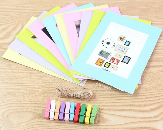 AB.M IDEA Colorful Creative DIY Paper Photo Frame Hanging Picture ...