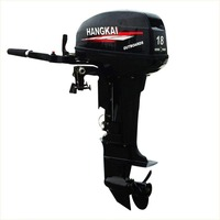 WATER SPORTS Outboard Motor 15 Hp Superior Engine Water Cooling System Two strok Inflatable Fishing Boat
