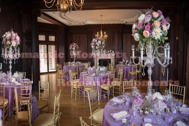 90 Cm Tall Kryształ ślub świeczniki Stoiska Kwiatowe Tabela