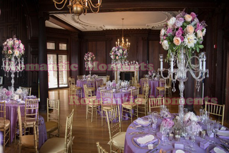 90cm Tall Crystal Wedding Candelabras Flower Stand Table Centerpiece Wedding Decoration In Vases
