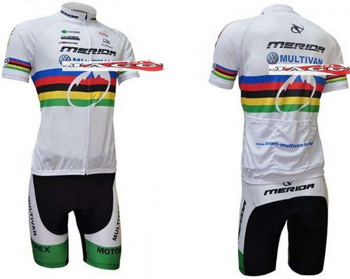 Free shipping! 2009 MERIDA team cycling jersey and shot / short sleeve jerseys+Z123 bike bicycle wear set COOL MAX
