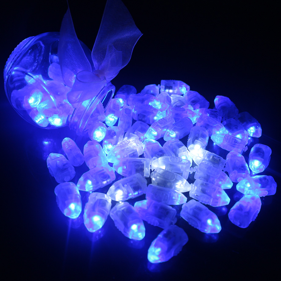 50pcs/lot White LED Balloon Lights for Paper Lantern Balloon Light Blue Warm White Mini Leds Lamps for Wedding Party Decoration
