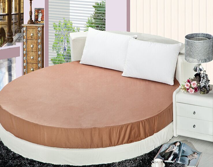 200 200cm and 220 220cm round bed mattress cover 100 cotton bed protective case fitted sheet. Black Bedroom Furniture Sets. Home Design Ideas