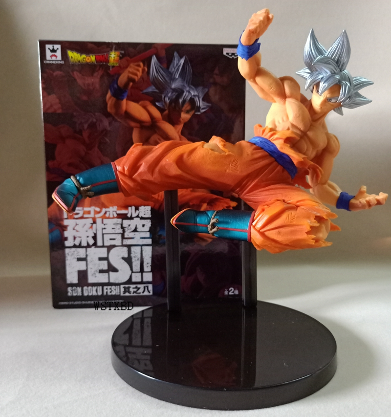 WSTXBD Banpresto DBZ Dragon Ball Z DBZ FES VOL.08 Goku UI Action Figure Brinquedos Model Dolls Toys Figurals Dolls wstxbd banpresto original dragon ball z dbz smsp goku manga color pvc figure toys figurals model dolls brinquedos