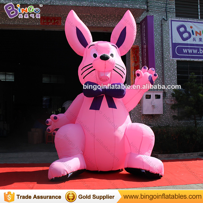 4M Popular advertising inflatable rabbit cartoon , inflatable rabbit mascot model , inflatable rabbits for easter decoration inflatable cartoon customized advertising giant christmas inflatable santa claus for christmas outdoor decoration