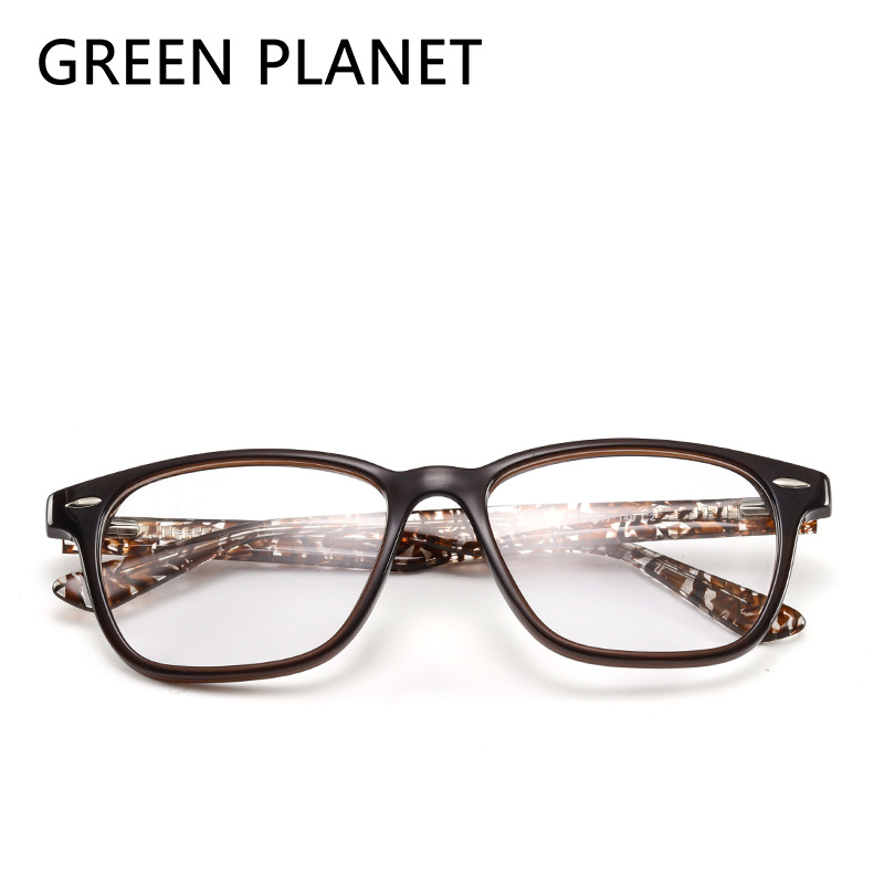 Green Planet Transparent Frame For Men Grade Myopia Computer Nouvement Glasses Slingshot Hinge Eye Glasses#CX-17018