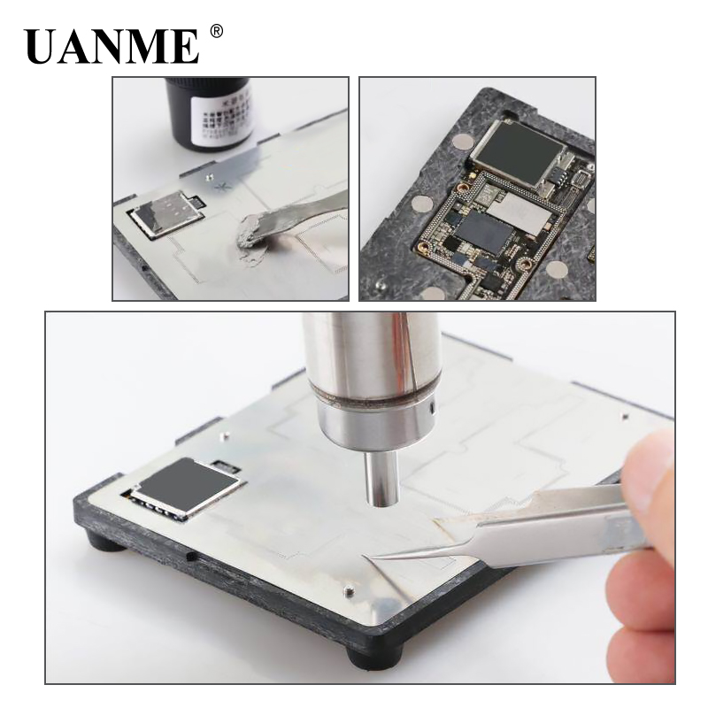 UANME MIJING ZX12 PCB holder fixture Motherboard IC Chip Ball Soldering Station for iPhone X