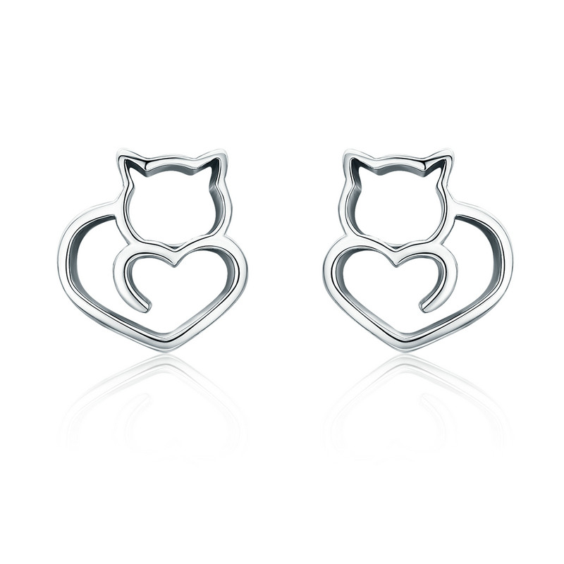 HTB1BZCnepHM8KJjSZFwq6AibXXat BAMOER Authentic 100% 925 Sterling Silver Lovely Cat Exquisite Women Pendant Necklace Luxury Sterling Silver Jewelry Gift SCN188