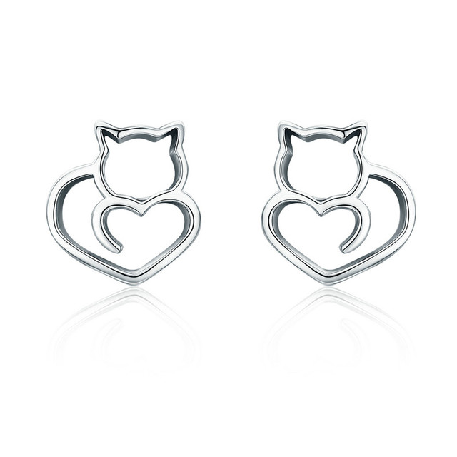 925 Sterling Silver Cat Pendant Necklace