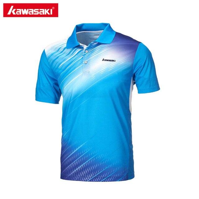 2017 original Kawasaki marcas hombres Polos manga corta poliéster mens  Tenis camiseta Ropa de deporte st 5c7f7215d1b41