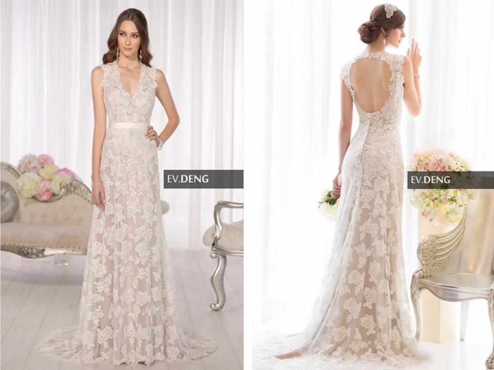 Sexy Backless Lace 2018 Hot Sale Custom-made V-neck Vestido De Noiva Casamento Brides Bridal Gown Mother Of The Bride Dresses