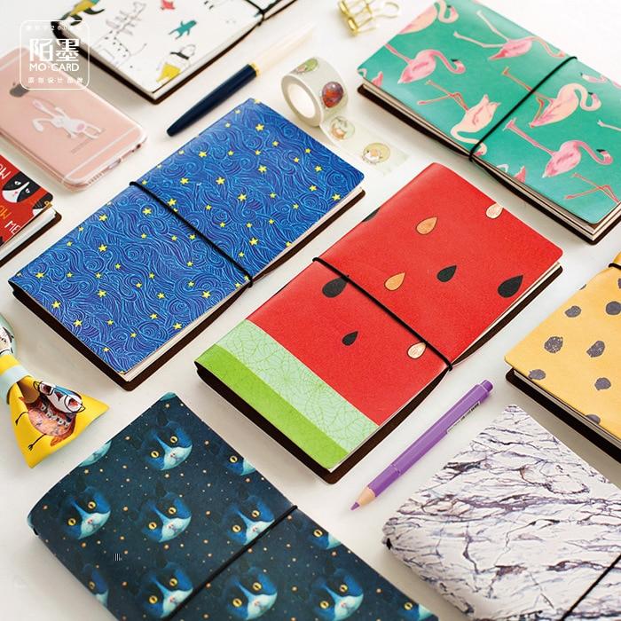 8 Stiluri japoneze Creative Kawaii Cute Cartoon DIY Notebook piele - Blocnotesuri și registre - Fotografie 3