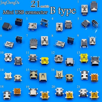JCD Mini USB Type B Female 5 Pin SMT SMD Shen board PCB Socket Connector 8pin 10 Pin SMT SMD DIP Mount Jack Connector image