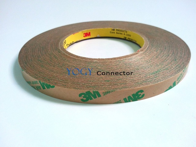 10mm*55M 0.13mm thickness 3M 468 468Mp 200mp Adhesive Double Sided Adhesive Tape for Metal Nameplate Plastic LCD Panel Foam Bond