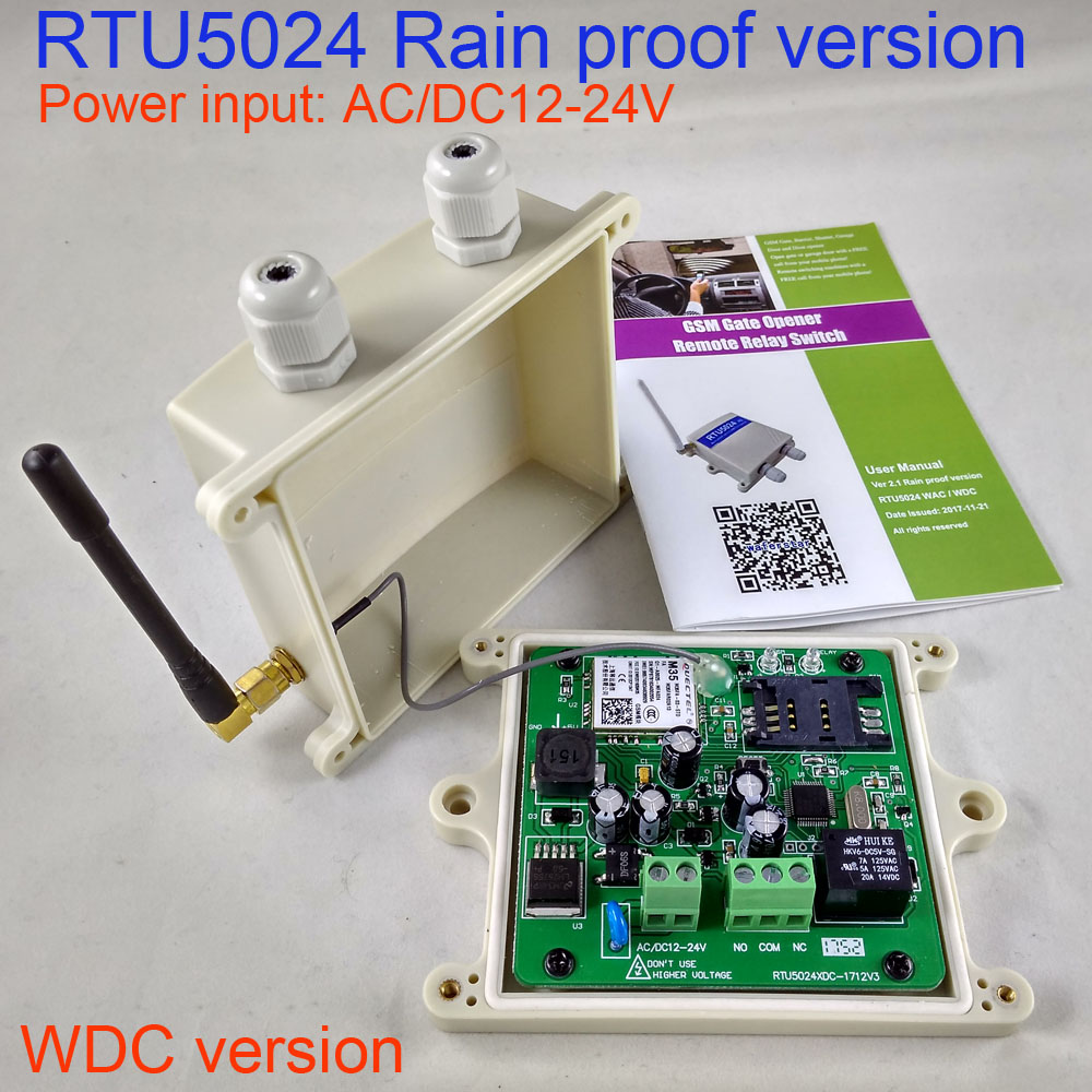 DC Version Rain proof type GSM Sliding Gate Opener Relay Switch Remote Access Control Door Opener via gsm key dc200 direct factory gprs server supported sliding gate gsm security remote access opener maximum working phone 200