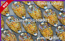 Cheap Top rated Rhinestones Droplet Flatback Loose Beads 11x18mm Accessories Stones Strass For Sewing Stones and Crystals pedras