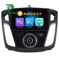 Восьмиядерный 4 Гб ОЗУ Android 8,0 Автомобильная dvd навигационная система мультимедийный плеер Автомобильный стерео для FORD Focus 2012 радио головное