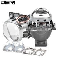 3.0 inch Q5 Square Bi xenon Lens Projector HID Headlight Full Metal Headlamp Lenses For D1S D2S D2H D3S D4S Bulbs Car Styling