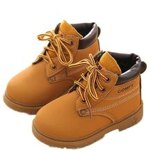 Baby Boots 2017 Fashion Winter Baby Child Army Style Martin Boot Warm Shoes D50