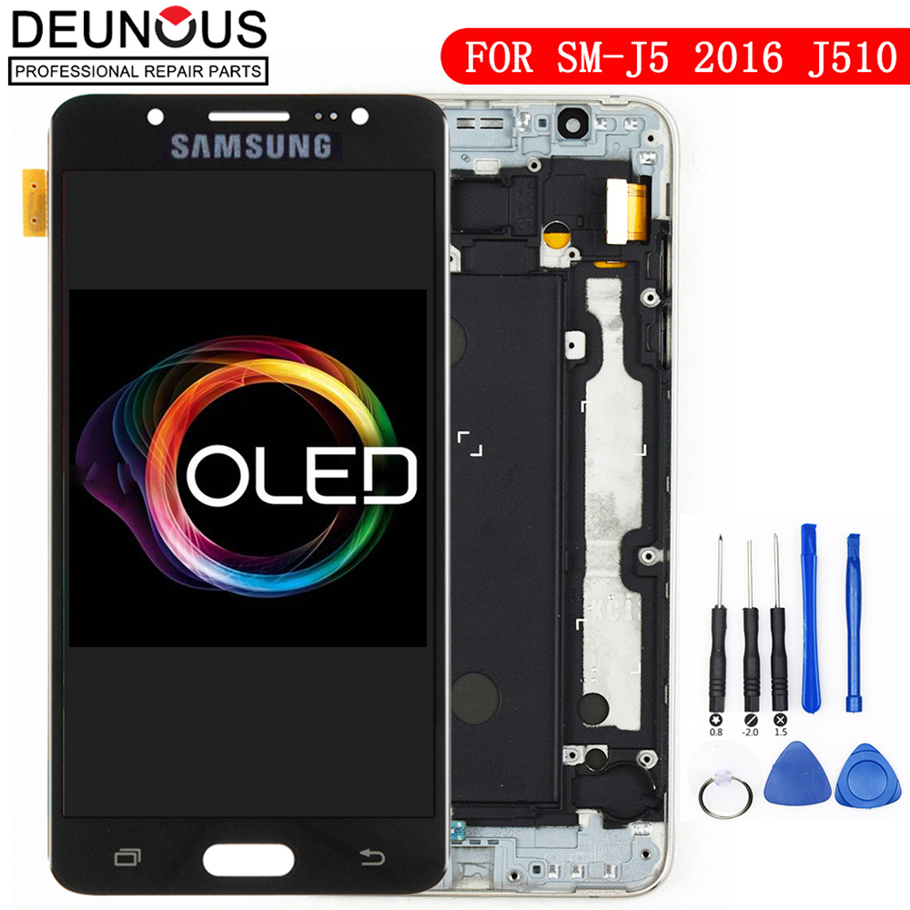 Super AMOLED ORIGINAL 5.2 LCD for SAMSUNG Galaxy J5 2016 Display Touch Screen for Samsung J510 J510F J510FN J510MSuper AMOLED ORIGINAL 5.2 LCD for SAMSUNG Galaxy J5 2016 Display Touch Screen for Samsung J510 J510F J510FN J510M