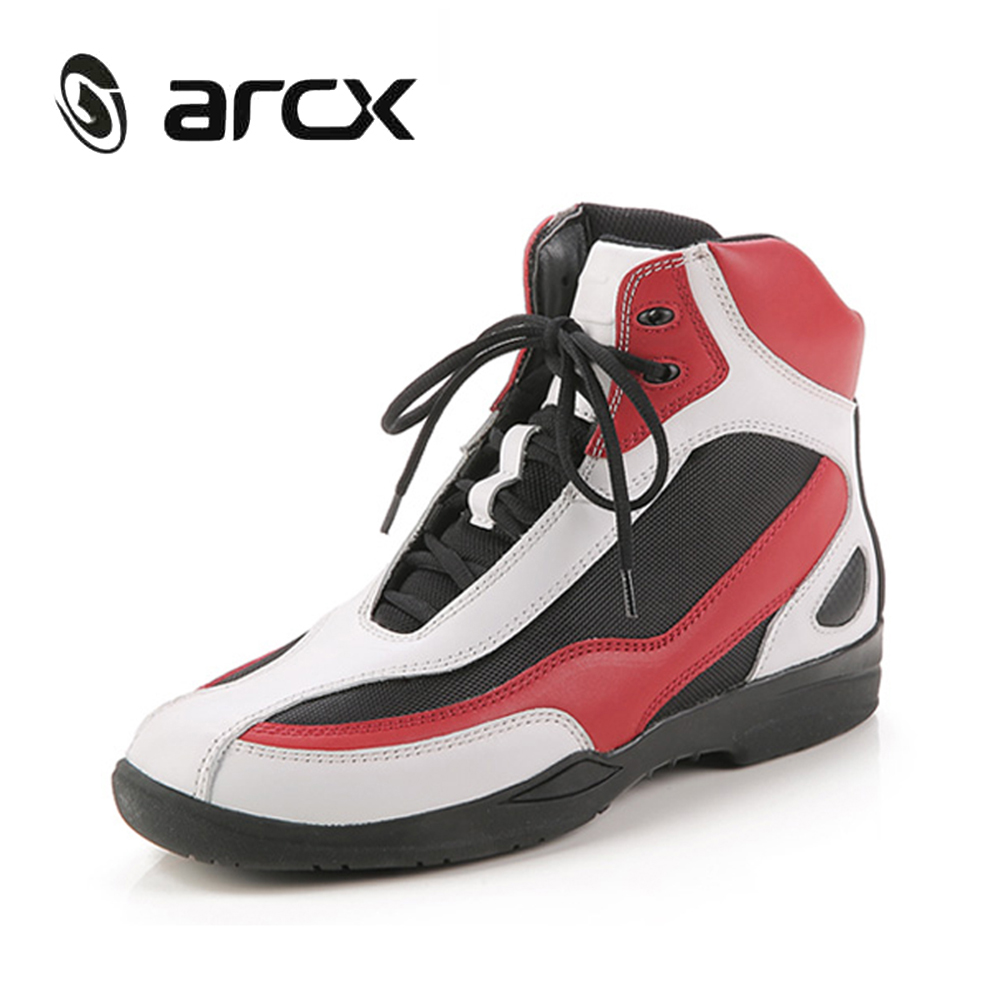 ARCX Genuine Cow Leather Motorcycle Road Racing Ankle Boots Street Moto Motorbike Biker Chopper Cruiser Touring Riding Shoes new scoyco moto racing leather boots motorcycle boots shoes motorbike riding sport road speed professional botas