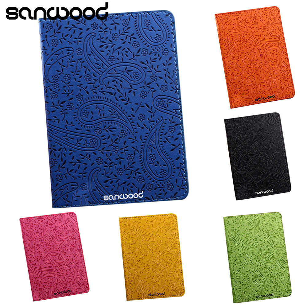 0a7076dc2 ... High Quality Lavender Travel Passport Holder Cover Faux Leather ID Card  Ticket Organizer Case 9XYO ...