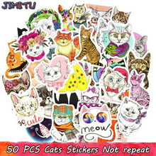 50 PCS Cute Cat Sticker Kawaii Anime Dream Girl Stickers Toys for Children DIY Laptop Luggage Phone Bicycle Fridge Decal Gifts 2000 pcs classic style children stickers funny fashion anime sticker toys vinyl waterproof decal toy luggage laptop sticker