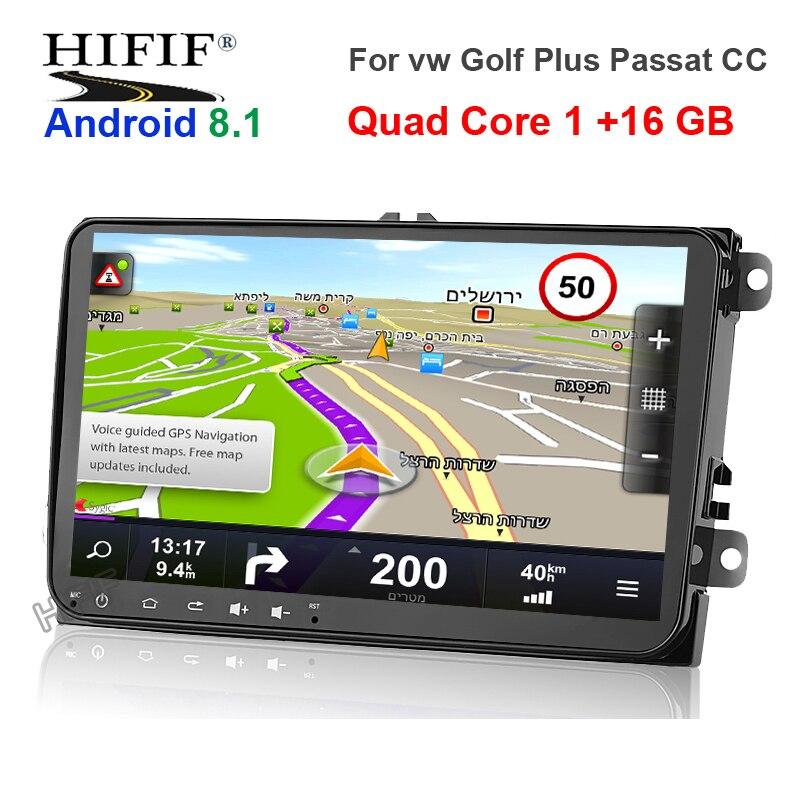 IPS 2 din 9 ''Android 8.0 2G/1G RAM autoradio stéréo GPS Navi pour VW Passat B6 CC Polo GOLF 5 6 Touran Jetta Tiguan Magotan Seat