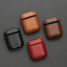 PU Leather Headphone Case For Apple Air Pods Bluetooth Earpo