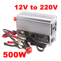 500W Car Inverter Converter Portable DC 12V to AC 220V Adapter Super Power Inverter Converter Charger for Car Truck Boat