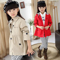 Children's jackets for girls trench coat spring & autumn kids clothes double-breasted princess girl outwear child outfits 4-12 Y
