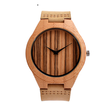 Nature Wooded Bamboo Watch Men Handmade Full Wooden Creative Women Watches 2019 New Fashion Quartz Clock Festival Gift aquamarine yellow color dial full wooden watch men nature wood ebony bangle creative women watches quartz fashion clock 2018 new