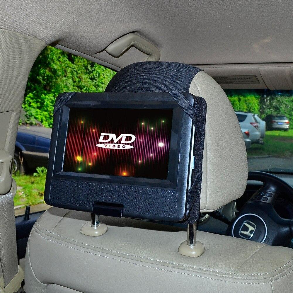 imágenes para Tfy coche reposacabezas titular de montaje para el eslabón giratorio y flip dvd player-7 pulgadas (no incluyendo el reproductor de dvd)