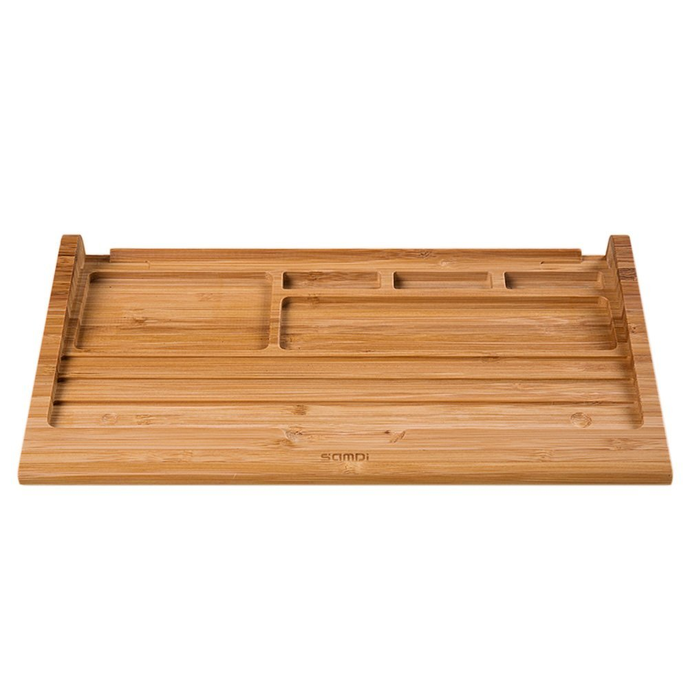 Bamboo Craft for Apple Bluetooth Wireless Keyboard Stand Dock Holder For iMac, Mac Pro, Desktop Computer