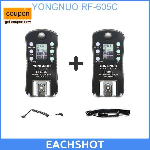 YONGNUO RF-605 RF605C RF 605C RF605 C Wireless Flash Trigger for Canon upgrade version of RF-603II