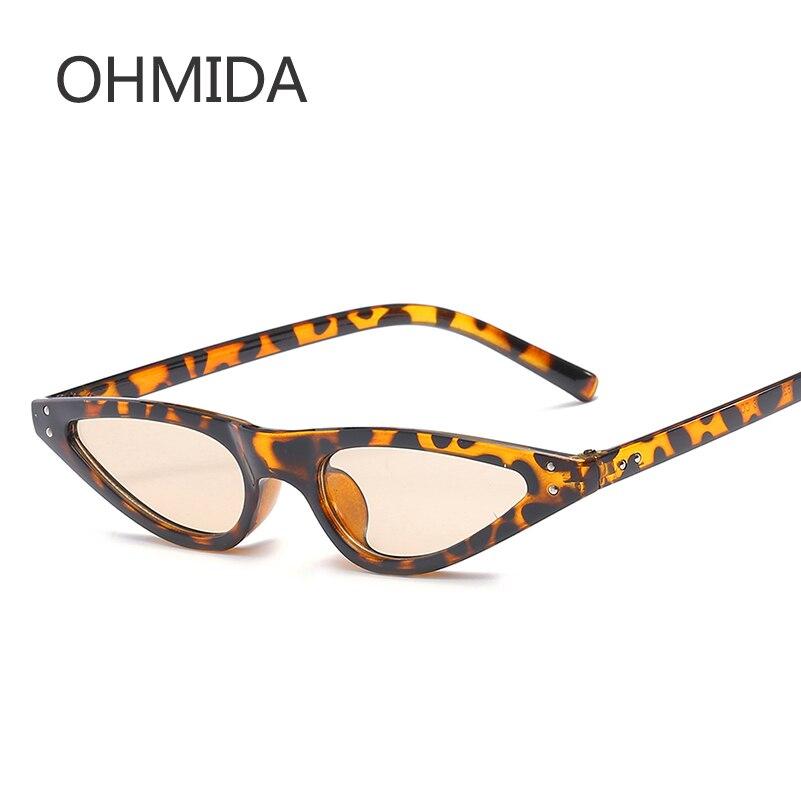 OHMIDA Fashionable Cat Eye Sunglasses Women 2018 Small Triangle Eyeglasses Vintage Cateye Sun Glasses Female UV400 Glasses Gifts