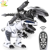 HUIQIBAO TOYS RC Dinosaur Walking Robot with song Light remote control Rc Animal Toys intelligent Dance toys for children gifts