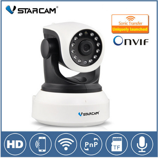 Vstarcam C7824WIP 720P HD Wireless Wifi IP Camera H.264  Indoor Pan/Tilt IR-CUT Night Vision Support 64G SD Card escam hd 720p ir night vision ir cut 1 0mp wireless wifi ip camera pan tilt security mini indoor camera support 32g card qf001