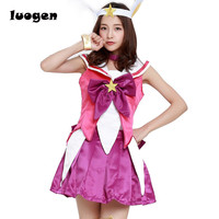 Game Star Guardian Magical Girl Lux Cosplay Costume For Girls Uniform LOL Halloween Fancy Party Dress