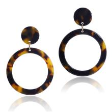 2019 Fashion Weightless Acetate Geometric Hollow Earrings Tortoise Shell Dangle Drop Round Circle