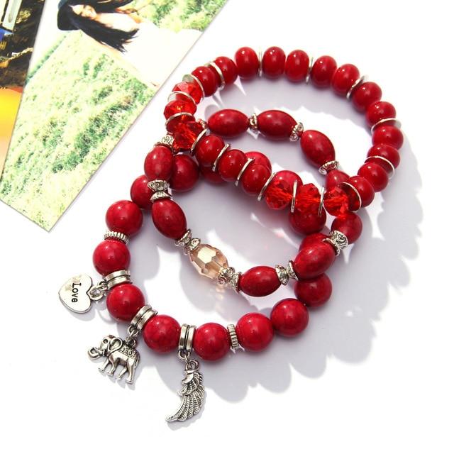 Colorful Beaded Bohemian Bracelets Set