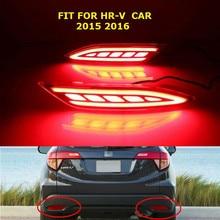 free shipment LED Rear Bumper Light, rear fog lamp, Brake Light, turn signal for HR-V 2015-16 with 3 functions
