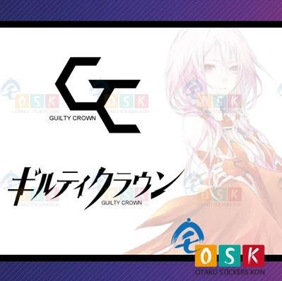 Car Sticker Japanese Cartoon FANS Guilty Crown logo Vinyl Wall Sticker Decal Decor alice in wonderland wall decal quote cheshire sayings we re all mad here vinyl decal for macbooks laptops car windows etc