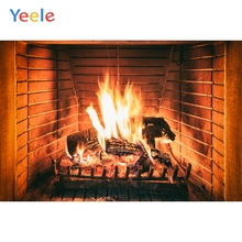 Yeele Flame Fire Fireplace Baby Children Portrait Photography Backgrounds Customized Photographic Backdrops For Photo Studio