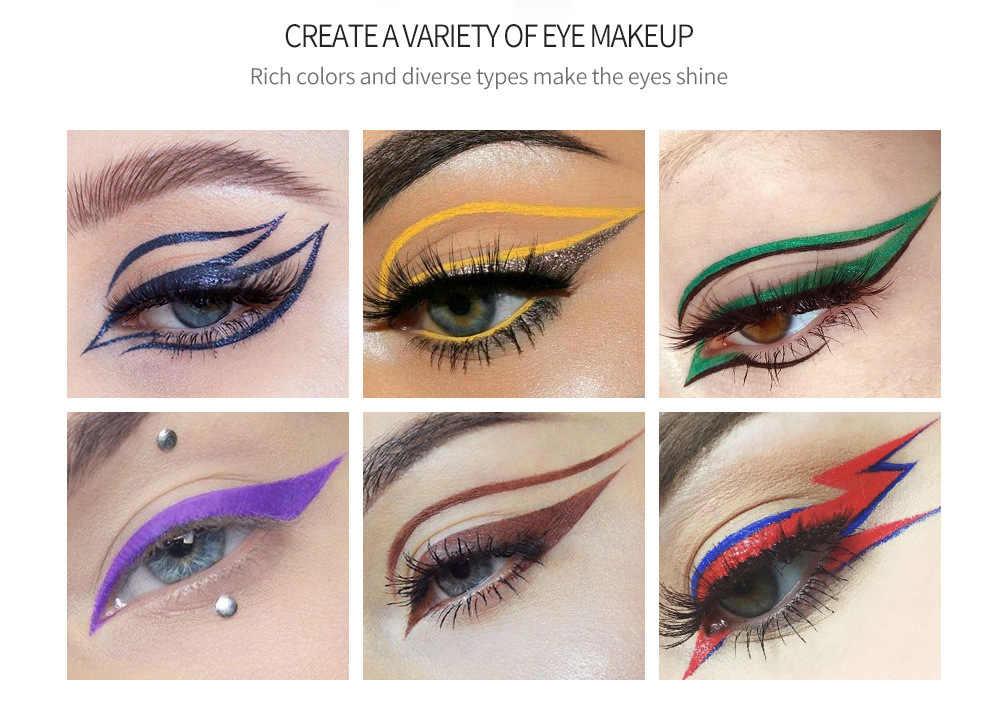 16 farbe Wasserdichte Matte Nude Flüssigkeit Eyeliner lidschatten Stift Make-Up Lang anhaltende Perlglanz Eyeliner Stift Schönheit Kosmetik TSLM1