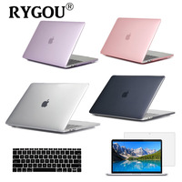 Crystal Clear Case For Apple Macbook Air Pro Retina 11 12 13 15 Laptop Case For