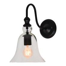 Vintage E27 claro vidrio campana luz para pared con lámpara Sconce Edison incandescente Lustres lámpara de hogar en los apliques de pared