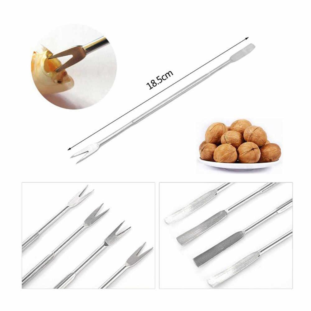 2 ชิ้นปฏิบัติ Olive อาหารทะเลปูกุ้งก้ามกรามส้อม Picks Handy Helper Nutcracker เข็มครัว gadget เครื่องมือผลไม้ 18.5 เซนติเมตร # w